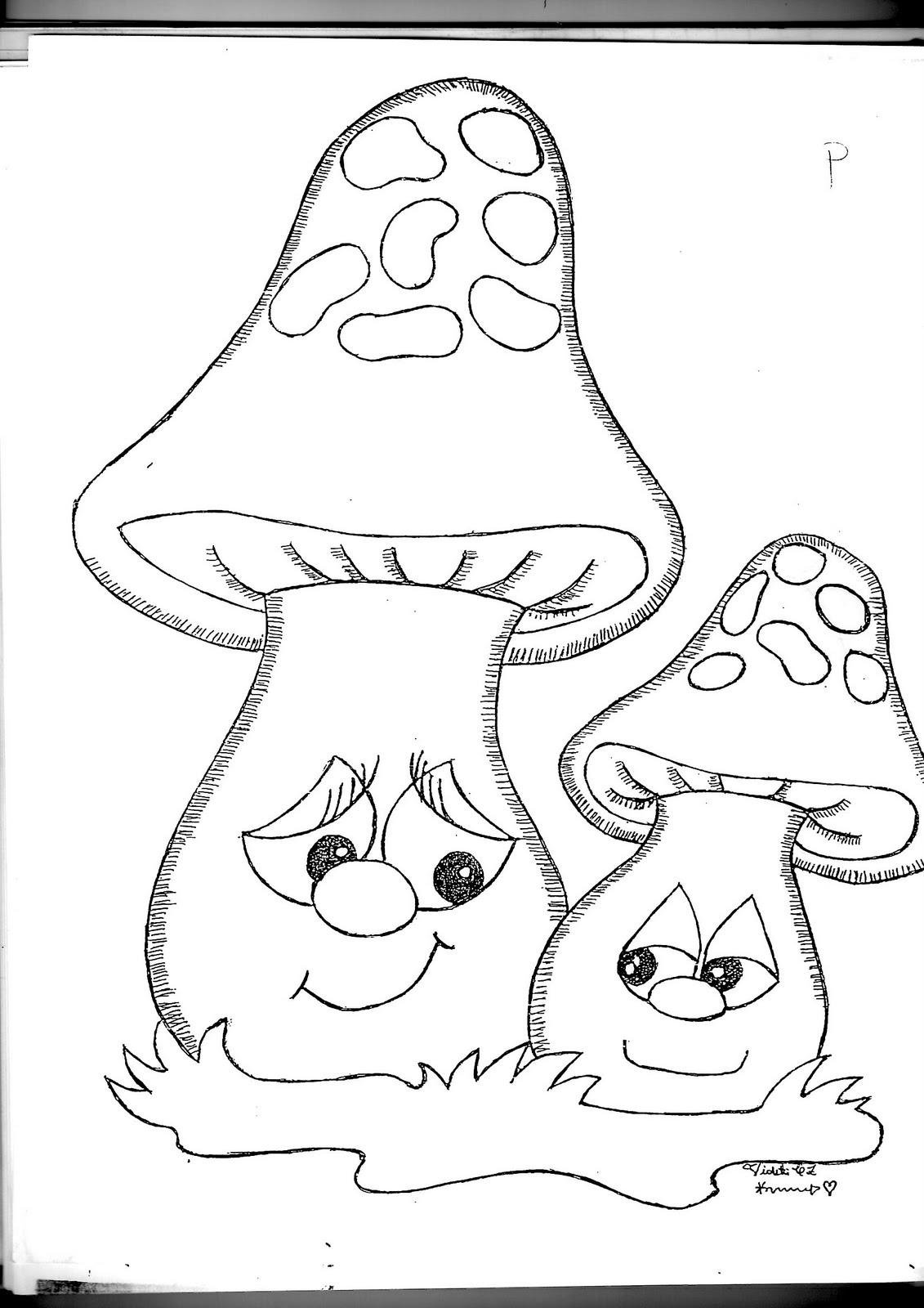 Para colorear hongos colorear im genes - Dibujos para pintar en tela ...