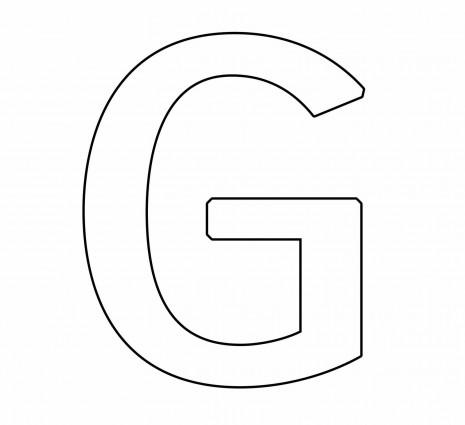 letras para colorear g