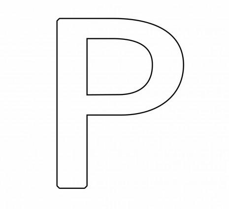 letras para colorear p