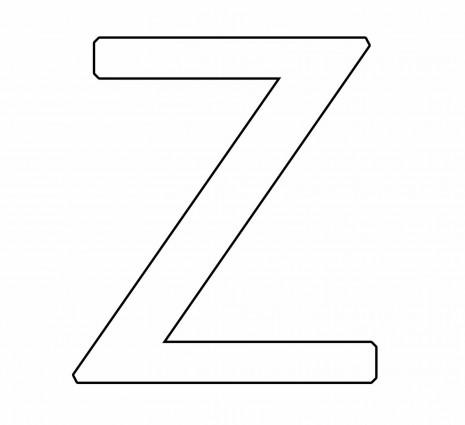 letras para colorear z