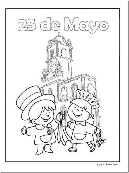 25 de Mayo para pintar: Vendedores ambulantes , damas y caballeros de