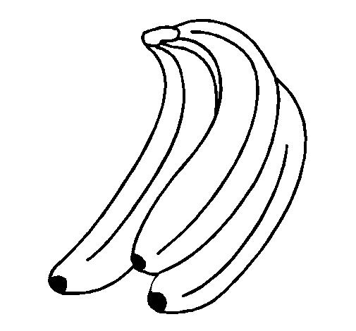 Dibujos de bananas para pintar | Colorear imágenes