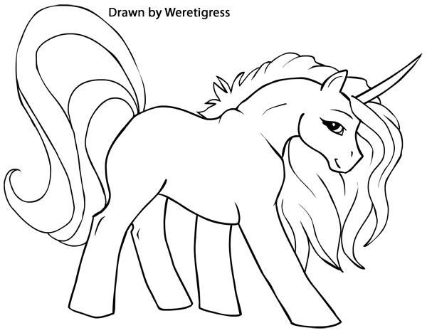 Dibujos Para Colorear Unicornios - Dibujos Para Dibujar