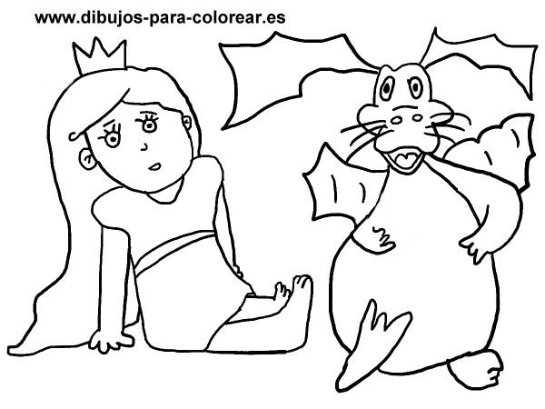 Dibujos De Princesas Para Colorear: + 30 Dibujos De Dragones Terroríficos Para Imprimir Y