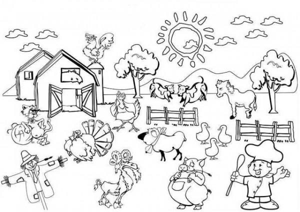 Dibujos De Granjas Infantiles A Color: +50 Imágenes De Granjas Y Animales Para Colorear: Pintando