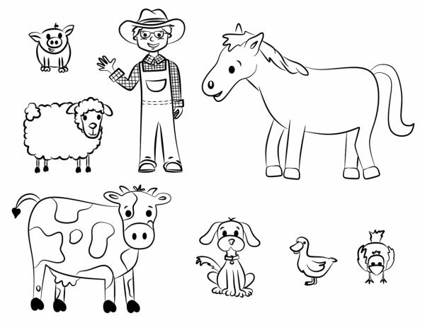 50 dibujos de granjas y animales para colorear colorear im genes. Black Bedroom Furniture Sets. Home Design Ideas