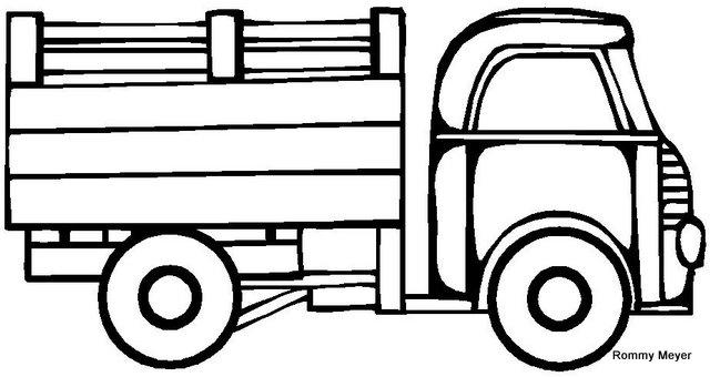 Coloreando dibujos de camiones: Descargar, imprimir y ...