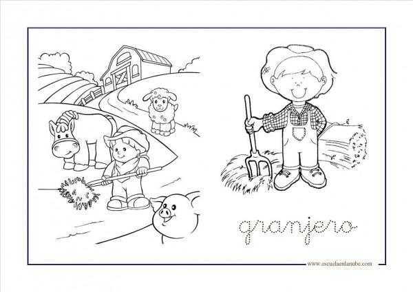 Mandalas De Perros Debuda Net Con Dibujos Para Colorear De: Granja Para Pintar Y Colorear