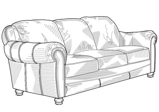 muebles para colorear: descargar e imprimir mobiliario | colorear ... - Dibujo De Muebles