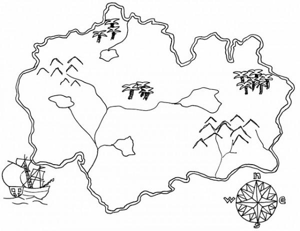 Schatkaart Kleurplaat Mapas Del Mundo Para Descargar Imprimir Y Colorear