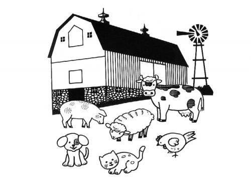 Dibujos De Granjas Infantiles A Color: +50 DIBUJOS De GRANJAS Y ANIMALES Para COLOREAR