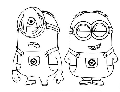 Divertidos Minions para pintar2