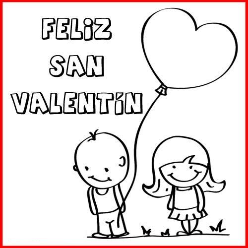Tarjetas de Feliz San Valentín para colorear2