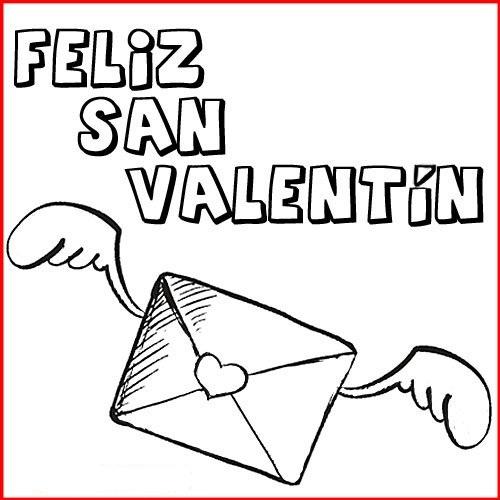 Tarjetas de Feliz San Valentín para colorear3
