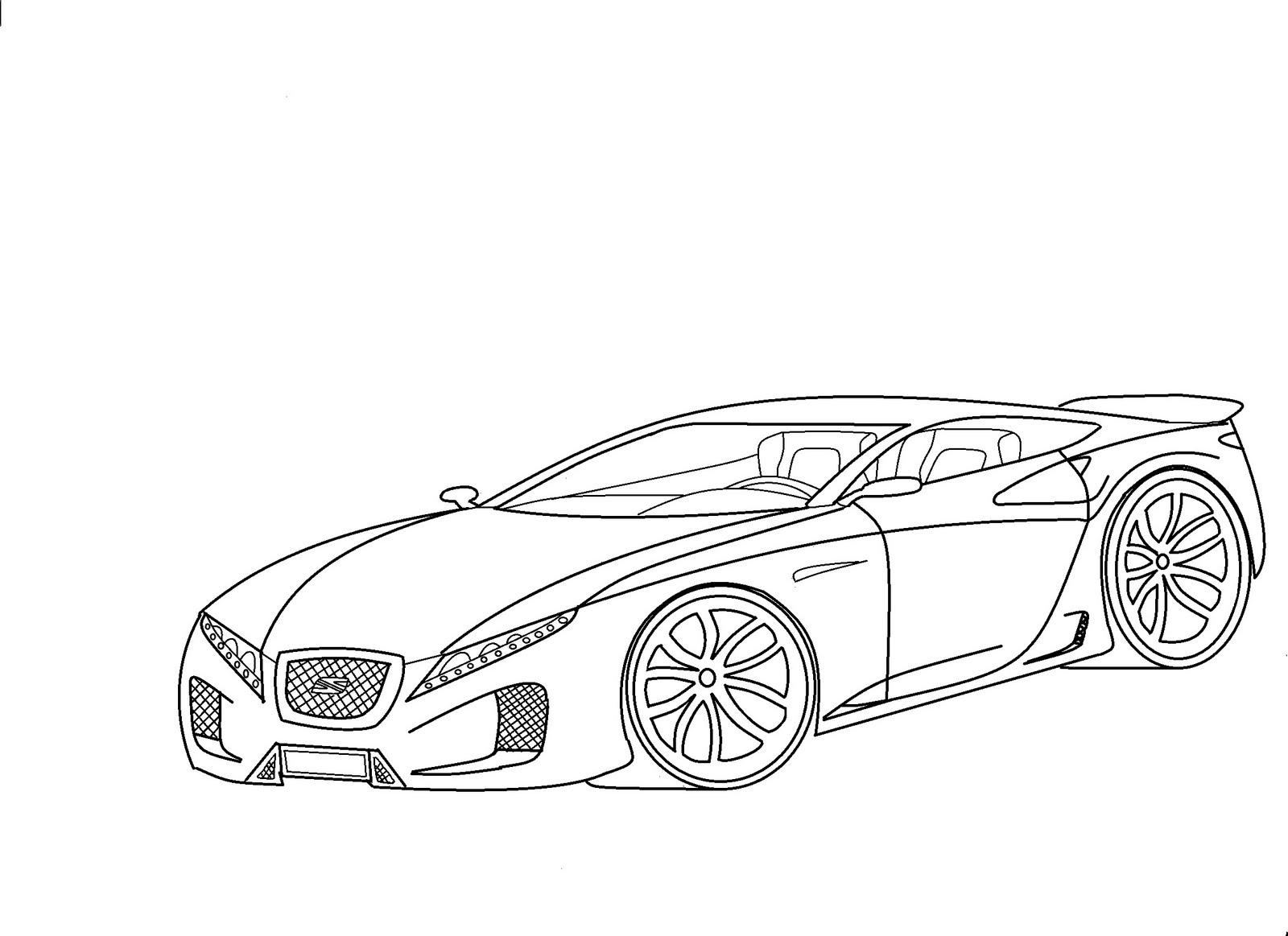 Dibujos de autos de carrera para colorear  Colorear imgenes