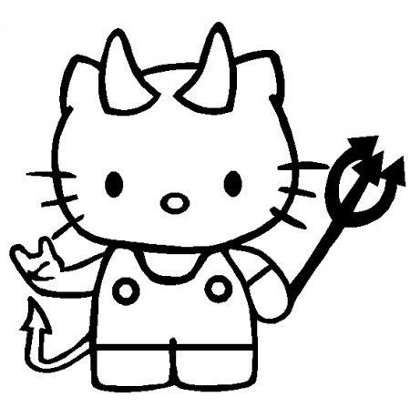 Dibujo de Kitty en Halloween para colorear  Colorear imgenes