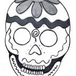 Dibujos de calaveras mexicanas para colorear en Halloween o Día de los Muertos