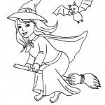 Brujas lindas para pintar en Halloween