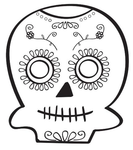 Dibujos de calaveras mexicanas para colorear en Halloween ...