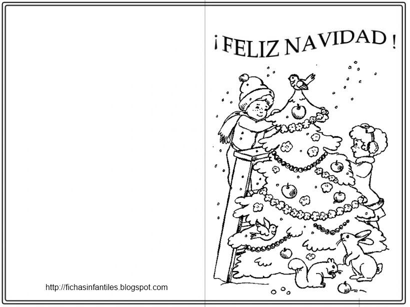 54 dibujos de navidad tarjetas papa noel y arbolitos de for Dibujos para tarjetas navidenas