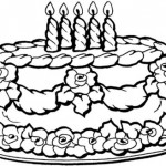 Tortas de cumpleaños para colorear