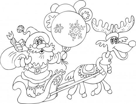 Dibujos infantiles de navidad para colorear 3