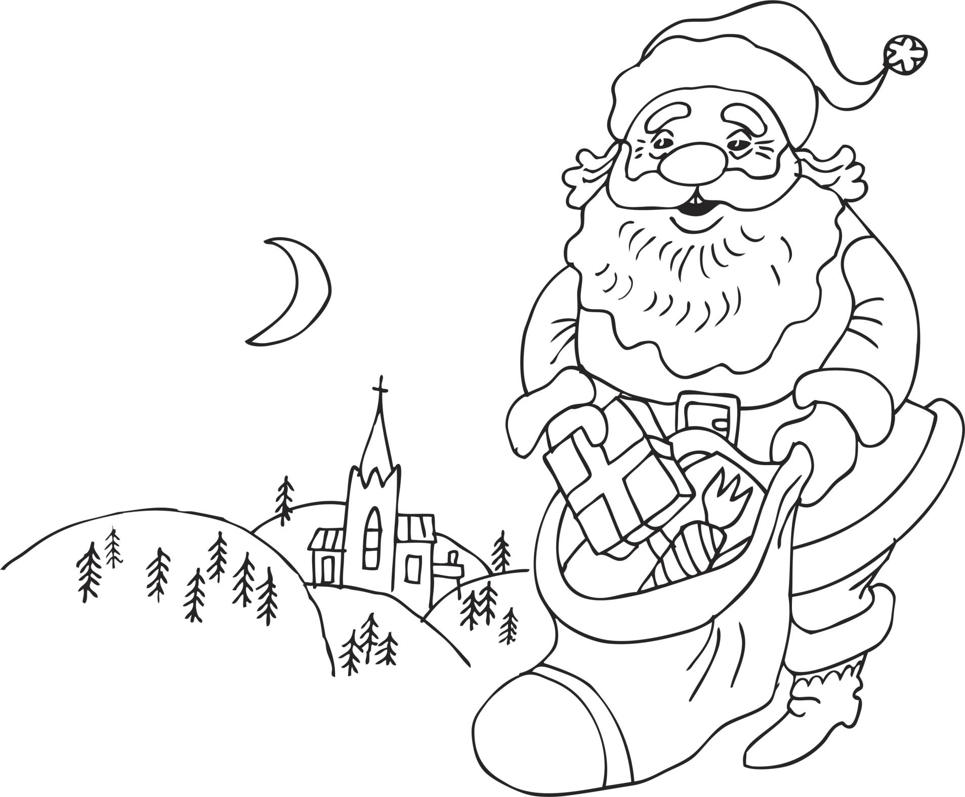 Dibujos Para Colorear Navidenos Imprimir: 54 Dibujos De Navidad, Tarjetas , Papa Noel Y Arbolitos De
