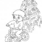 Coloreando niños en Navidad