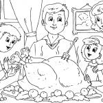 Día de Acción de Gracias en familia – Para pintar