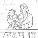 """Dibujos del cuento infantil """"La Bella y la Bestia"""" – Para pintar"""