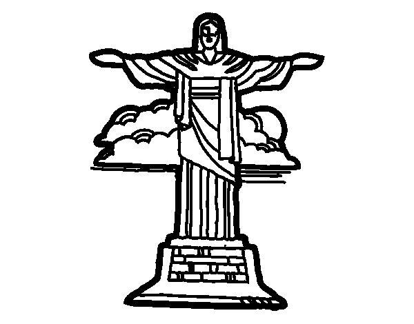 Dibujos Del Cristo Redentor Para Pintar