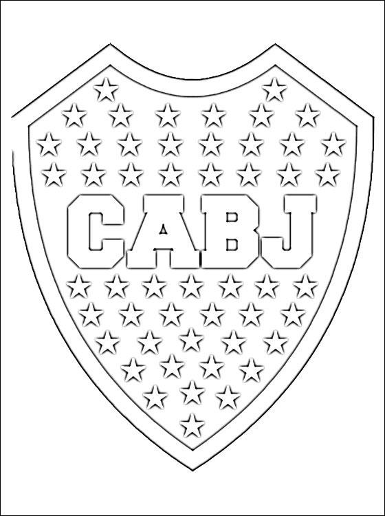 Escudos de Boca Juniors y River Plate para pintar  Colorear imgenes