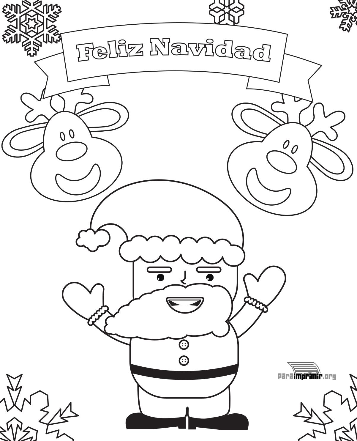 Tarjetas De Navidad Para Colorear E Imprimir Gratis. Finest ...