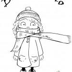 Dibujos de ¡Bienvenido Invierno! para colorear: Muñecos de nieve