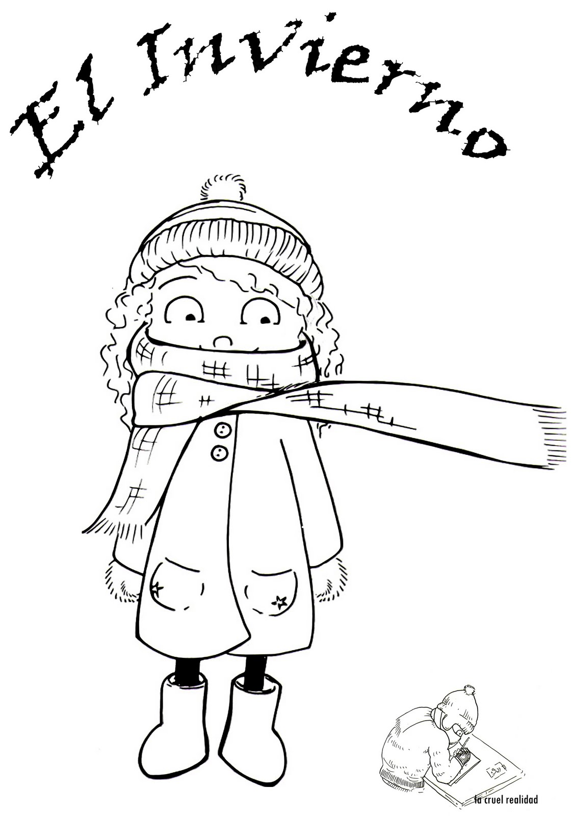 Dibujos de bienvenido invierno para colorear mu ecos de for Imagenes de patios de invierno