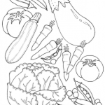 Dibujos de verduras para colorear