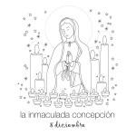 Día de la Inmaculada Concepción de María – Para colorear