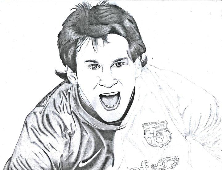 Lionel Messi para colorear  Colorear imgenes