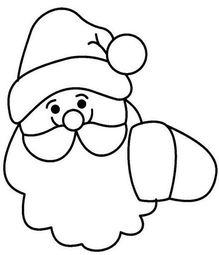 Caras de Papá Noel para pintar  Colorear imágenes