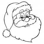 Caras de Papá Noel para pintar
