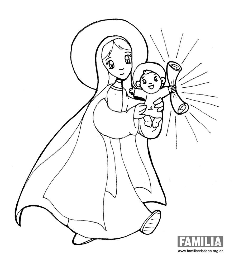 Dibujos Para Colorear De La Virgen Maria. Great Virgen Mara Ruega ...