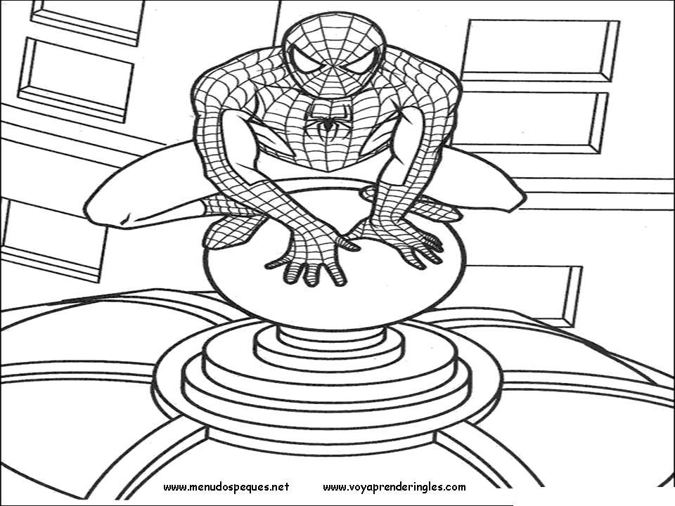 Arañas De Halloween Para Colorear: Hombre Araña O Spiderman Para Pintar