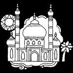El Taj Mahal – Para pintar