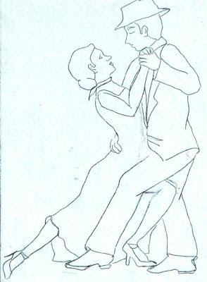 Bailarines de tango para pintar  Colorear imgenes