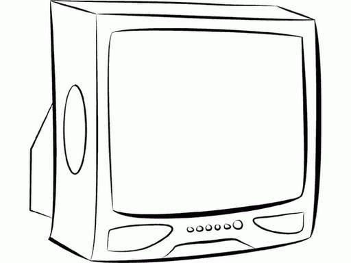 Día de la Televisión – para pintar | Colorear imágenes