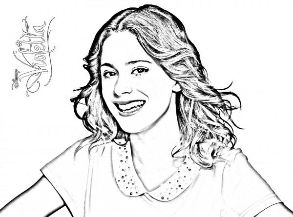 Dibujos de Violetta para pintar  Colorear imágenes