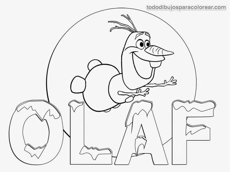 Dibujos de Olaf Frozen para colorear  Colorear imgenes