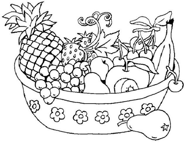Dibujos de frutas para pintar | Colorear imágenes