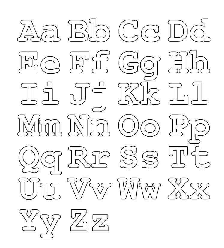 Diferentes letras vocales y abecedarios para imprimir y colorear