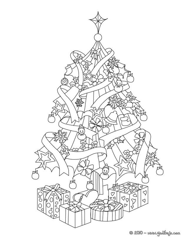 Simpele Kleurplaat Winter Kerst Dibujos De Arbolitos De Navidad Con Regalos Para Colorear